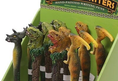 One Dinosaur Hand Painted Ball Point Pen Black Ink Fun Stocking Filler