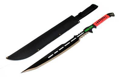 "High Quality Defender 28"" Full Tang Zombie Killer Hunting Sword With Red Handle&"