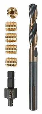 E-Z LOK 400-4 Threaded Inserts for Wood, Installation Kit, Brass, Includes 1/...