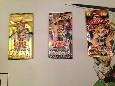 Yugioh Seald Japanise Packs From 2000-2003 Premium pack 4 and 6 Pharaohs Survant