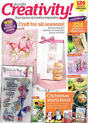 Docrafts Creativity magazine number 22 July 2010 +a set of 4 born to shop stamps