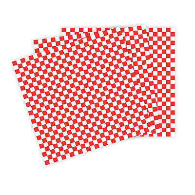Wax Paper Basket Liners - Sandwich Wrap Paper - Red/White Check - 50 Sheets