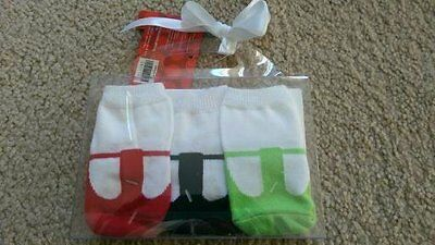 NWT Gift Set 3 Pairs Girls Socks Baby Infant Size 0-6 Month