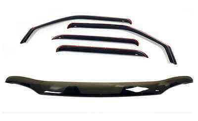 *COMBO* Bug Shield In Channel Visors 2000 - 2004 for a Nissan Frontier Crew Cab