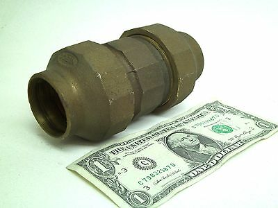 "NEW! NIBCO 1-1/2"" inch Bronze Brass Flared Flare Union Fitting Coupling KB"