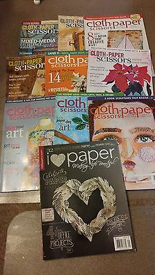 Cloth Paper And Scissors 10 Magazine Lot