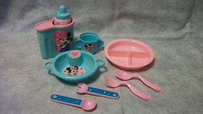 E73 Baby Doll Dishes Baby Mickey Shillman Kenner Bottle Warmer Silverware Lot 9