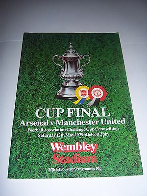 1979 FA CUP FINAL -  ARSENAL v MANCHESTER UNITED - FOOTBALL PROGRAMME