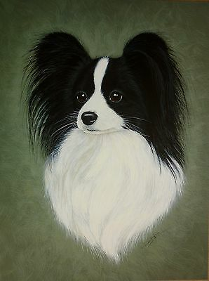 "Sale - Papillon Butterfly Dog Pamela Ryan Print 12 X 16"" Reduced Brian Hupfield"