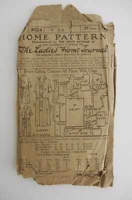 Antique Sewing Home Pattern Co. 3024 The Ladies Home Journal Ladies Flapper Usa