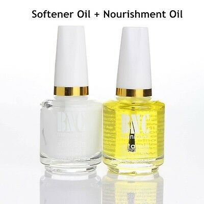 2pcs Nails Cuticle Softener Remover + Nourishment Oil Nail Treatment