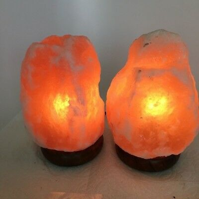 "2x Himalaya Natural Handcraft Rough Raw Crystal Salt Lamp, 7""-7.5"" Tall,XL178"