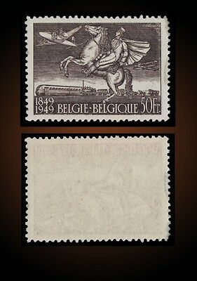 1946 Belgium Plane Trains Mail Coach Biplane Steam Locomotive Post Sct. C12