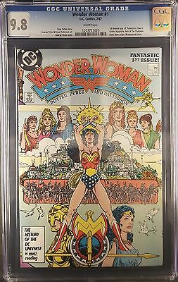 Wonder woman #1 1987 Graded CGC 9.8 WHITE PAGES