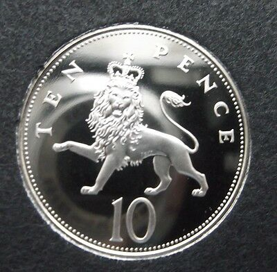 1978 10P Larger proof Coin. Not released. Low Mintage of Proof. Almost perfect