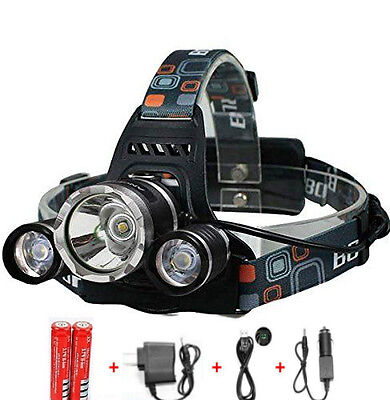 Rechargeable LED Head Torch/Light/Lamp for Camping Running Hiking Riding Fishing