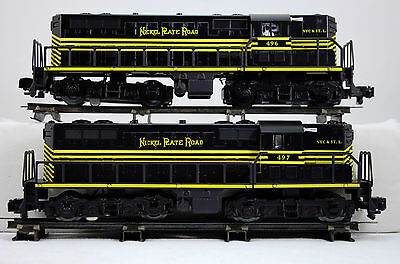 American Flyer S-Gauge #496 & #497 Nickle Plate GP9 Set 6-48017 MINT OB
