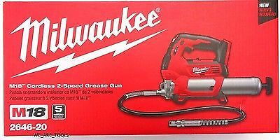 Milwaukee M18 2 speed Cordless Grease Gun, Bare Tool,10,000 PSI #2646-20 S