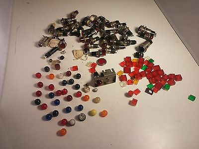 Lot of 38 + Vintage DIALCO & Other Panel Mount Indicator Lights Lens Covers