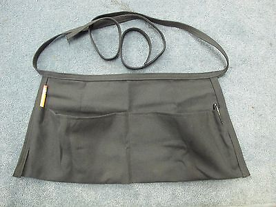 Simple black tool apron bib pouch garden work cooking crafting