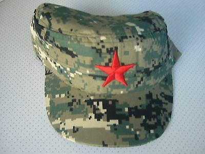 RED - STAR - ARMEE- ARBEITS - MÜTZE - org.  VOLKSBEFREIUNGSARMEE - V.P.  CHINA-A