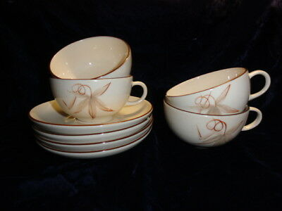 Handcrafted Winfield China Passion Flower Cups & Saucer