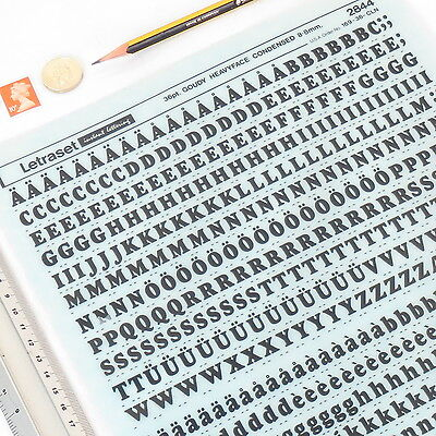Letraset GOUDY HEAVYFACE CONDENSED 2844 36pt/8.8mm Rub On Transfer Letter +%DISC