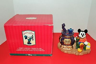 Disney Store Mikey's season of song tea light candle holder in box