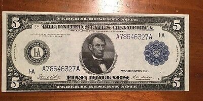 Very Nice 1914 $ Federal Reserve Note Fr 847 A