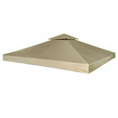 Outdoor Gazebo Cover Canopy Top Cover Replacement 270 g / m² Beige 3 x 3 m