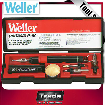 Weller Soldering Iron Cordless Butane Gas Tool Kit P1KC