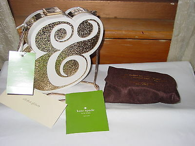 Kate Spade Wedding Belles Ampersand Clutch/shoulder Bag Gold Pxru6119 Nwt $358