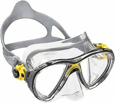 Cressi Big Eyes Evolution Crystal Scuba Diving and Snorkeling Mask - Yellow