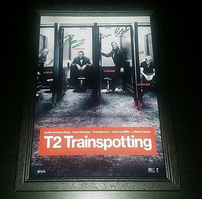 "T2 TRAINSPOTTING PP SIGNED FRAMED A4 12X8"" PHOTO POSTER EWAN McGREGOR Begbie"