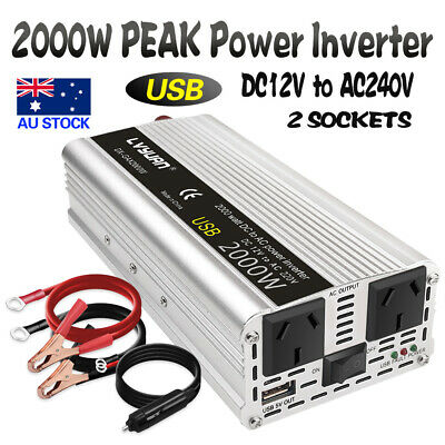 Boat Car 2000W converter power inverter DC 12V to AC 220V-240V invertor 2AMP USB