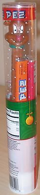 New Holiday Christmas Rudolph The Red Nose Reindeer Pez Dispenser Candy Tube Set