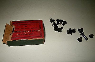 VINTAGE NOS OPENED BOX PANNED TUBULAR RIVETS 3/16 to 8/16 FULL SIZE No 1 HARNESS