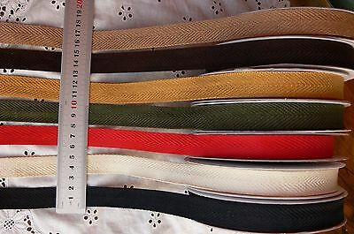 Textured TWILL Ribbon 7 Colours 3 & 5 Metre Lengths 18mm Wide MultiList LrgR