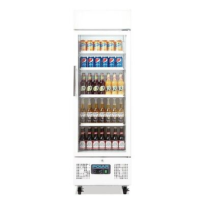 POLAR Upright Display Fridge Cabinet 218 Litre White 1 Door Refridgerator
