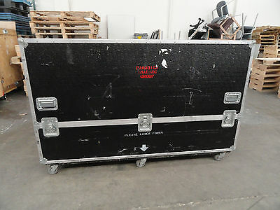 Large, Black Shipping/Road Case on 6 Casters