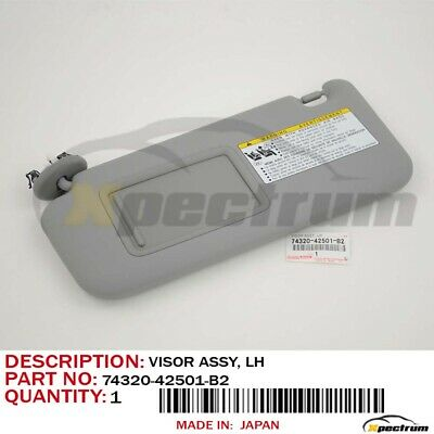 Toyota Genuine Oem Driver Lh Side Sun Visor New 74320-42501-B2 Gray -06-10 Rav4
