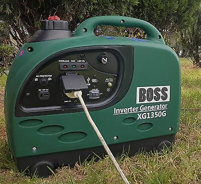 1350W Max, BOSS Inverter Generator, Stable, Convenient, Lightweight, Portable