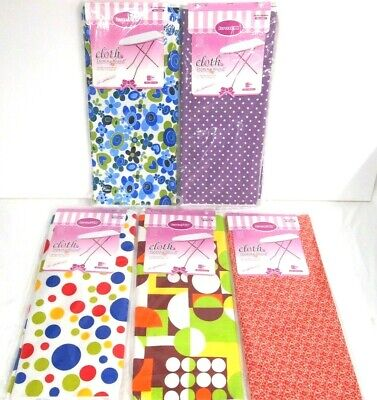 140 x 50CM PATTERNED IRONING BOARD COVERS - HOMEWARE FABRIC COTTON ASSORTED