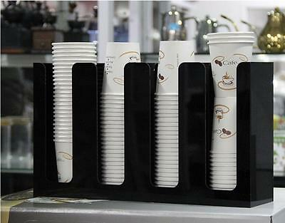 Free Ship 4SL Cup lid Dispenser Bar Restaurant Supply Coffee Tea Cup Dispenser