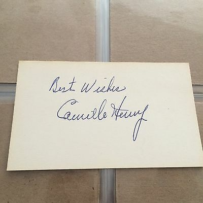 Autograpgh Index Card Of Cammile Henry