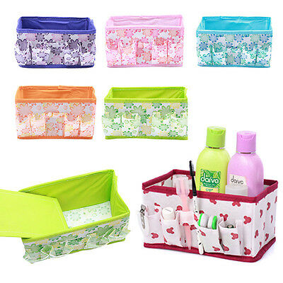 New Folding Flower Box Makeup Case Cosmetic Table Storage Organizer Container