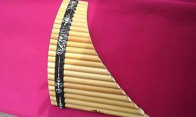 Amazing  Panflute 22  Pipes From Peru - Case Included-See Video