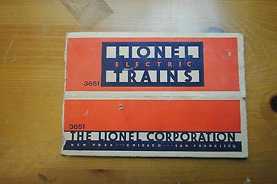 Lionel 3651 Operating Lumber Car Box Only
