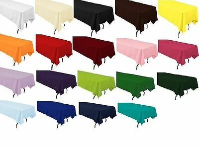 6 packs  60 x 126 Inch Rectangular Polyester Tablecloths Hotel 25 COLORS USA