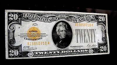 USA 20$ Twenty Dollars 1928   Gold Certificates  Gold  Seal 0718* ***